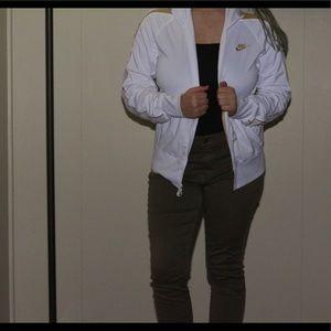 Nike gold and white zip up jacket